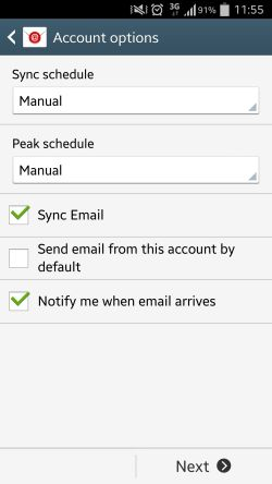android account options