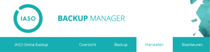 Online Back-up stap 2
