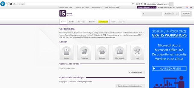 online inzien en specificeren van Hosted desktop facturen- afb2